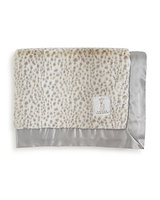 Infant Little Giraffe 'Snow Leopard' Chenille Baby Blanket