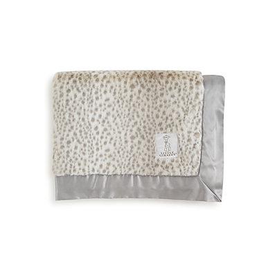 Infant Little Giraffe 'Snow Leopard' Chenille Baby Blanket