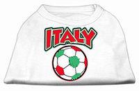 Ahi Italy Soccer Screen Print Shirt White 6x (26)
