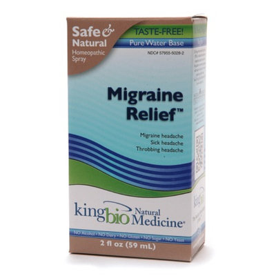 Natural Medicine by King Bio Migraine Relief