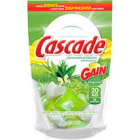 Cascade ActionPacs Dishwasher Detergent with the Scent of Gain