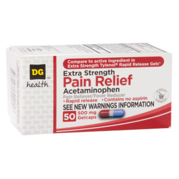 DG Health Extra Strength Pain Relief - Gelcaps, 50 ct