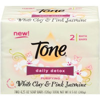 Tone Daily Detox White Clay and Pink Jasmine with Vitamin E, 2 Count