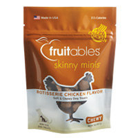 Fruitables Skinny Minis Chewy Dog Treats Rotisserie Chicken - 5oz