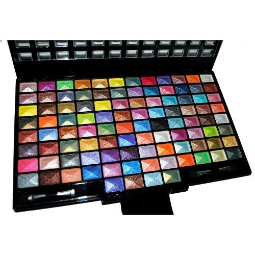 Emori TM Elegant 100 Piece Glitter Eyeshadow Makeup kit in Black Palette