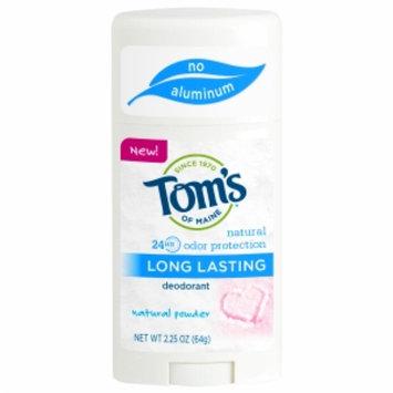 Tom's Of Maine Tom's of Maine Long-Lasting Aluminum Free Deodorant, Natural Powder, 2.25 oz