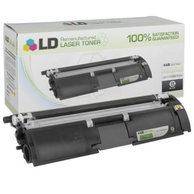 LD© Remanufactured Replacement for Konica-Minolta 1710587-004 Black Toner Cartridge for use in MagiColor 2400, 2400w, 2430dl, 2450, 2480, 2480MF, 2490, 2490MF, 2500w, 2530DL, 2550DN, 2550EN, 2590