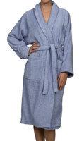 Blue Nile Mills Unisex 100% Egyptian Cotton Bath Robe Extra-Large, Blue
