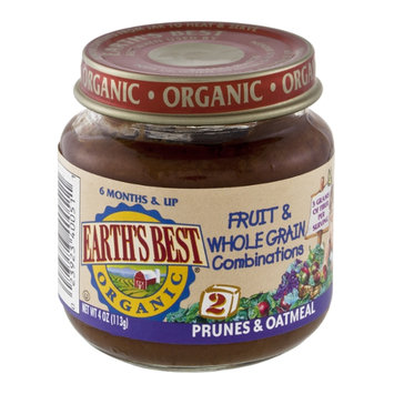 Earth's Best Organic Fruit & Whole Grain Combinations Stage 2 Prunes & Oatmeal