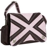 Kalencom Hannah's Messenger Diaper Bag - Chocolate/Pink