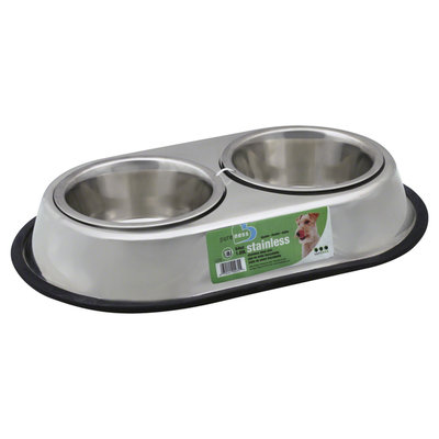 Van Ness Stainless Steel Double Dog Dish