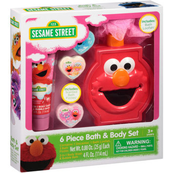 Sesame Street Elmo & Friends Bath & Body Set, 6 pc