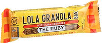 Lola Granola Bar The Ruby - with Cranberries - 2.1 oz Bars, (Pack of 12)