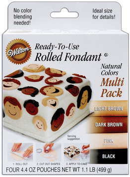 Wilton ROLLED FONDANT NATURAL COLORS MULTI-PACK Cake