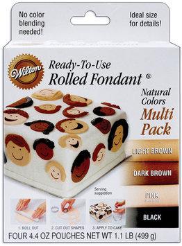 Wilton ROLLED FONDANT NATURAL COLORS MULTI-PACK Cake