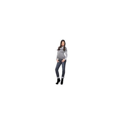 Olian Maternity : Striped Cowl Neck - Grey (X-Large)