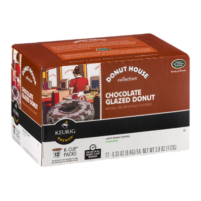 Green Mountain Coffee Donut House Collection Chocolate Glazed Donut Light Roast K-Cup Packs
