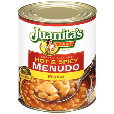 Juanita's Foods Estilo Casero WATER, BEEF TRIPE, HOMINY, BEEF BROTH, SALT, CHILE PEPPER, NATURAL FLAVORING, SPICES, SUGAR, PARTIALLY HYDROLYZED SOYBEAN/COTTONSEED OIL AND HYDROLYZED CORN GLUTEN.
