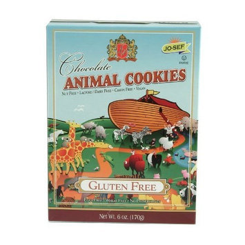 Jo-Sefs Animal Cookies, Chocolate, Gluten Free, 6-Ounce (Pack of 6)