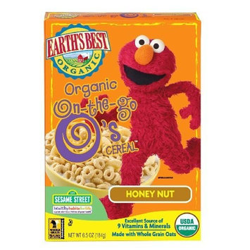Earth's Best Organic On The Go O's Cereal, Honey Nut, 6.5 Ounce Boxes (Pack of 6)