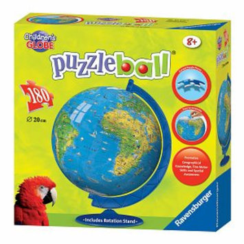Ravensburger Puzzleball - Children's Globe with Base Stand: 180 Pcs Ages 8-12, 1 ea