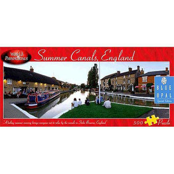 Blue Opal World Panoramas - Summer Canals, England Puzzle: 500 Pcs