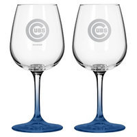 Boelter Brands MLB Cubs Set of 2 Wine Glass - 12oz