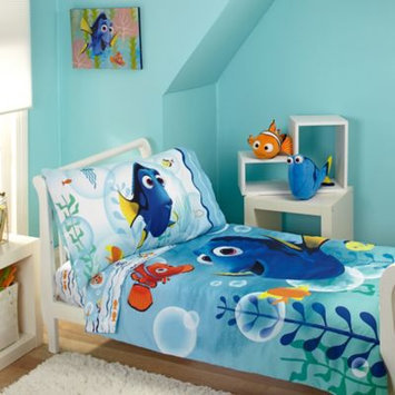 Crown Craft Disney Pixar Finding Dory Bubbles 4 Piece Toddler Bed Set