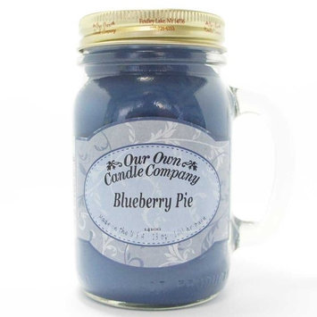 13oz BLUEBERRY PIE Scented Jar Candle (Our Own Candle Company Brand) Made in USA - 100 hr burn time