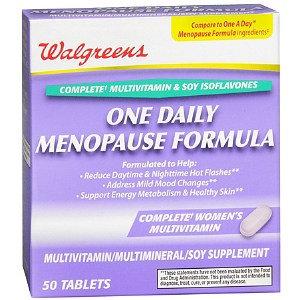 Walgreens One Daily Menopause Formula Multivitamin/Multimineral/Soy Supplement Tablets