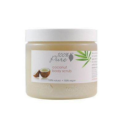 100% Pure Cosmetics Coconut Body Scrub - 16 Ounces Scrub - Hand & Body Washes