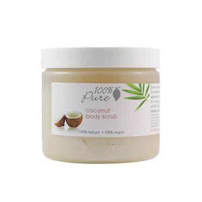 100% Pure Cosmetics Coconut Body Scrub - 16 Ounces Scrub - Hand & Body Washes