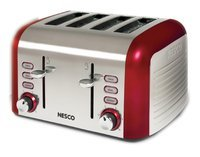 The Metal Ware Corporation Stainless Steel Red 4 Slice Toaster
