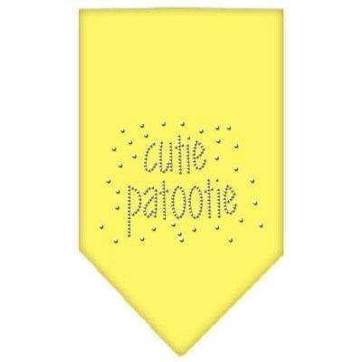 Mirage Pet Products 6724 SMYW Cutie Patootie Rhinestone Bandana Yellow Small