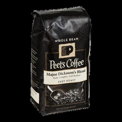 Peet's Coffee Major Dickason's Blend Deep Roast Whole Bean Coffee