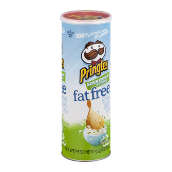 Pringles Sour Cream & Onion Fat Free Potato Crisps