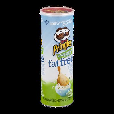 Pringles Sour Cream & Onion Fat Free Potato Crisps
