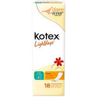 Kotex Lightdays Long Unscented Liners-18 ct