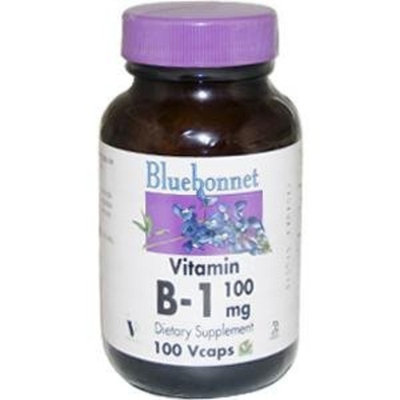 Bluebonnet Nutrition, Vitamin B-1, 100 mg, 100 Vcaps