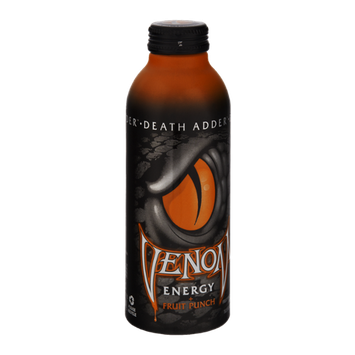 Venom Death Adder Fruit Punch Flavored Energy Drink