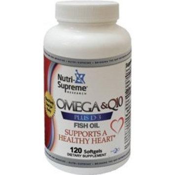 Nutri Supreme Nutri-supreme Research Omega-q10 Plus D3 Fish Oil Epa-dha - 120 Softgels