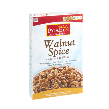 Peace Cereal All Natural Walnut Spice Clusters & Flakes