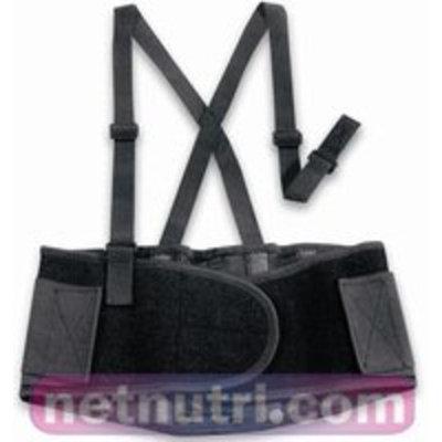 Valeo Black XL Back Support Belt - No Lumbar Pad - 8 in Width - 52 to 62 in Waist Sizes - VI4680XL PRICE is per BELT