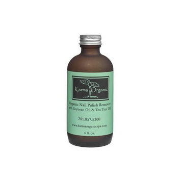 Karma Organic Nail Polish Remover with Soybean Oil and Tea Tree Oil