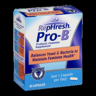RepHresh Pro-B Probiotic Feminine Supplement - 30 CT