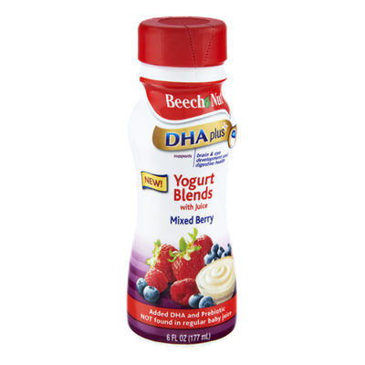 Beech Nut DHA Plus Mixed Berry Yogurt Blends with Juice