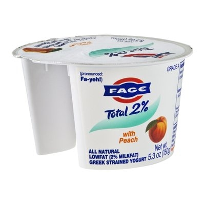 Fage Total 2% Yogurt Greek Strained All Natural-Lowfat with Peach