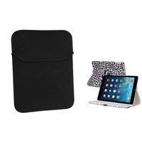 Insten INSTEN White/Purple Leopard 360 Leather Case Cover+Pouch For Apple iPad Air 5 5th Gen