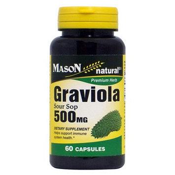 Mason Vitamins Mason Natural Graviola Sour Sop 500 Mg Capsules - 60 Ea