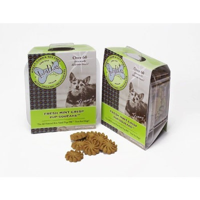 The Lazy Dog Co Fresh Mint Crisp Pup-SQUEAKS, 7 Ounce Box (Pack of 3)